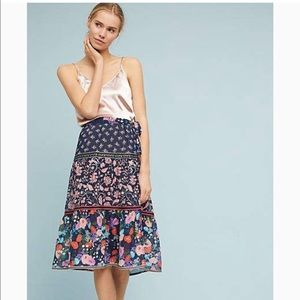 Anthropologie One September Flora Melody skirt
